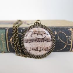 Music Necklace, Sheet Music Necklace, Sheet Music Jewelry, Music Jewelry, Resin Necklace, Gifts for Musicians